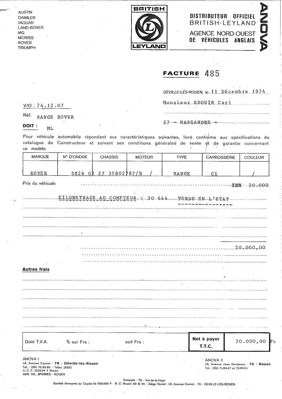 Facture Vente Voiture Occasion - Georgina Her Blog